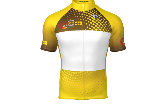 This is the leader jersey of GAES Catalunya Bike Race presented by Shimano!