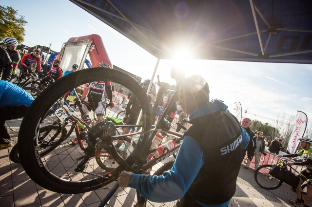 Shimano, official technical service of GAES Catalunya Bike Race presented by Shimano